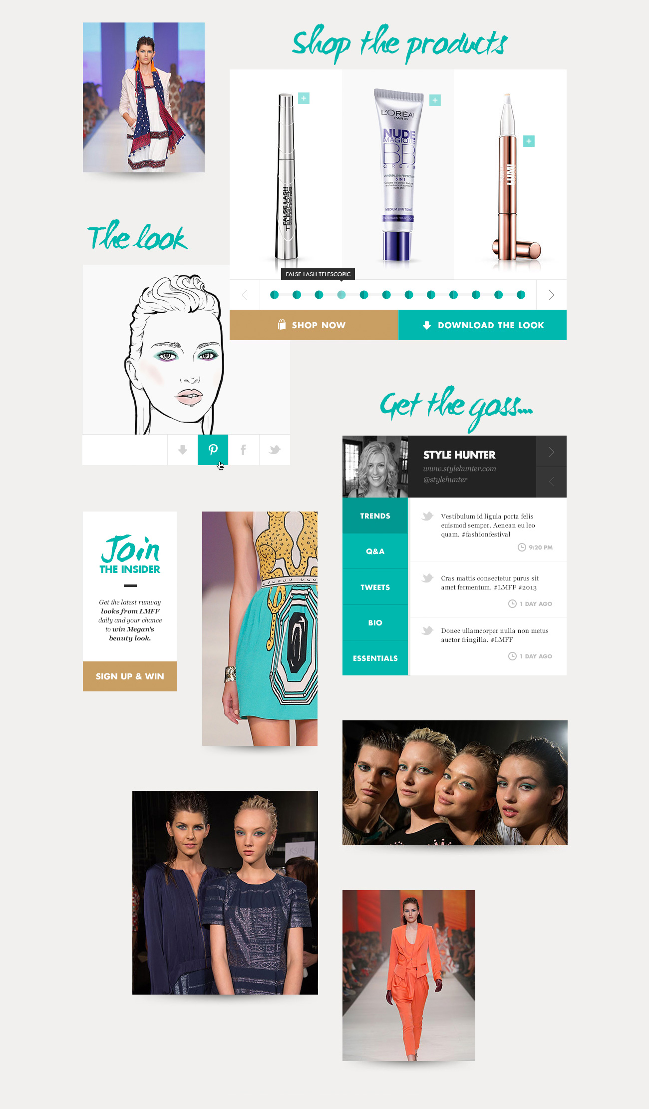 欧莱雅网站用户界面设计图片