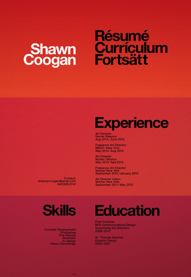 shawn coogan art director resume shawn coogan s portfolio