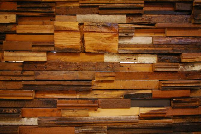 Scrap wood wall k creative